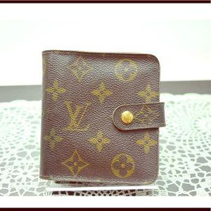 Authentic Louis Vuitton Bi-fold zip Wallet